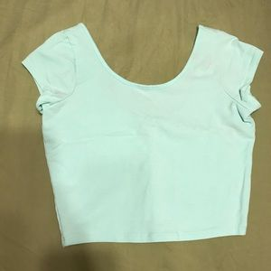 Light blue crop top